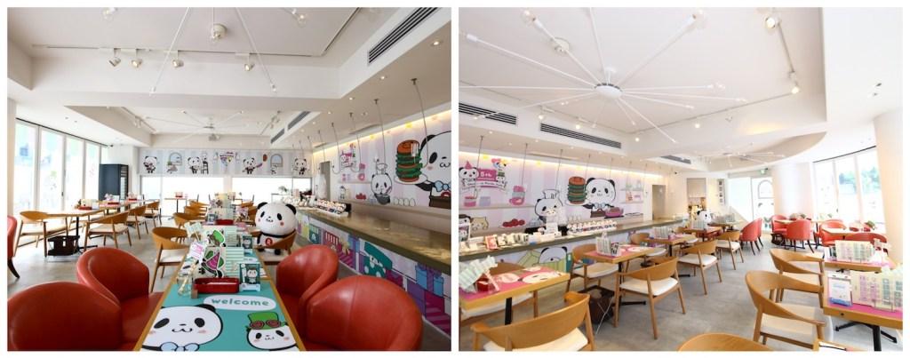 Rakuten's Pop-up Panda cafe features an intensely instagenic interior.