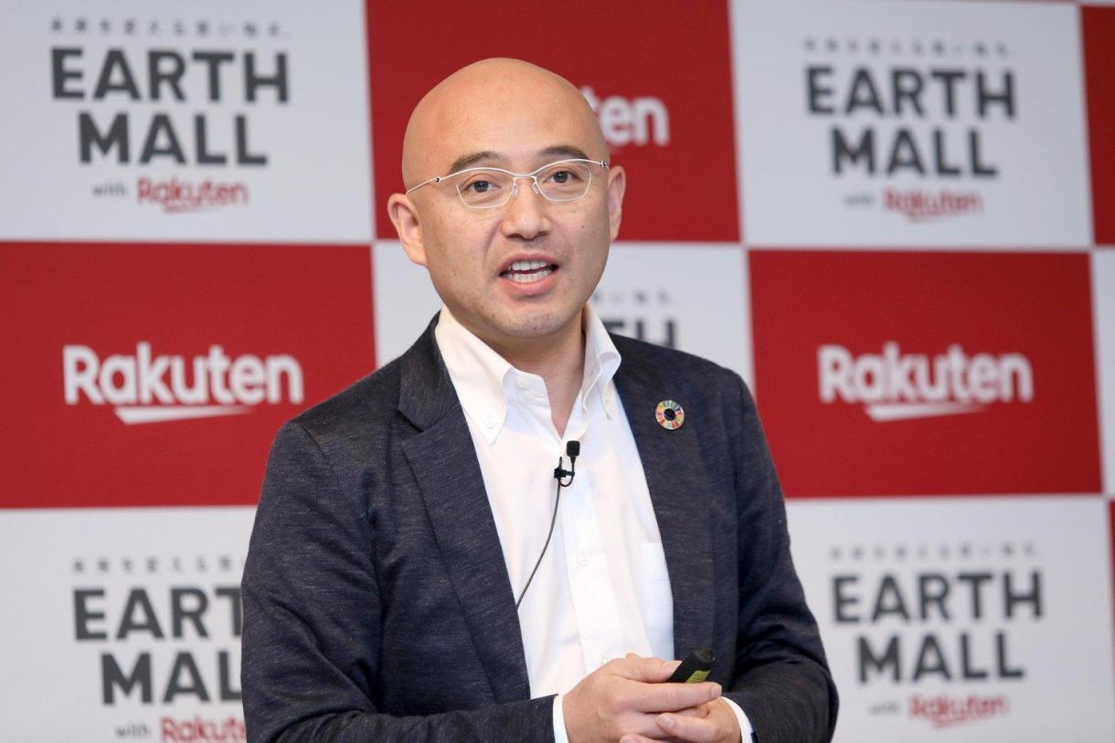 """""""It's not enough to simply try and change consumption. To change society, we need to change the environment for consumers. And if we can change society, the economy will change too,"""" said Rakuten co-founder and Chief People Officer Masatada """"Seichu"""" Kobayashi."""