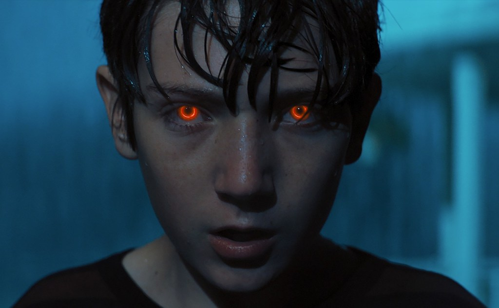 A scene from Brightburn, which has been dubbed a superhero-horror. The film was produced by The H Collective.
