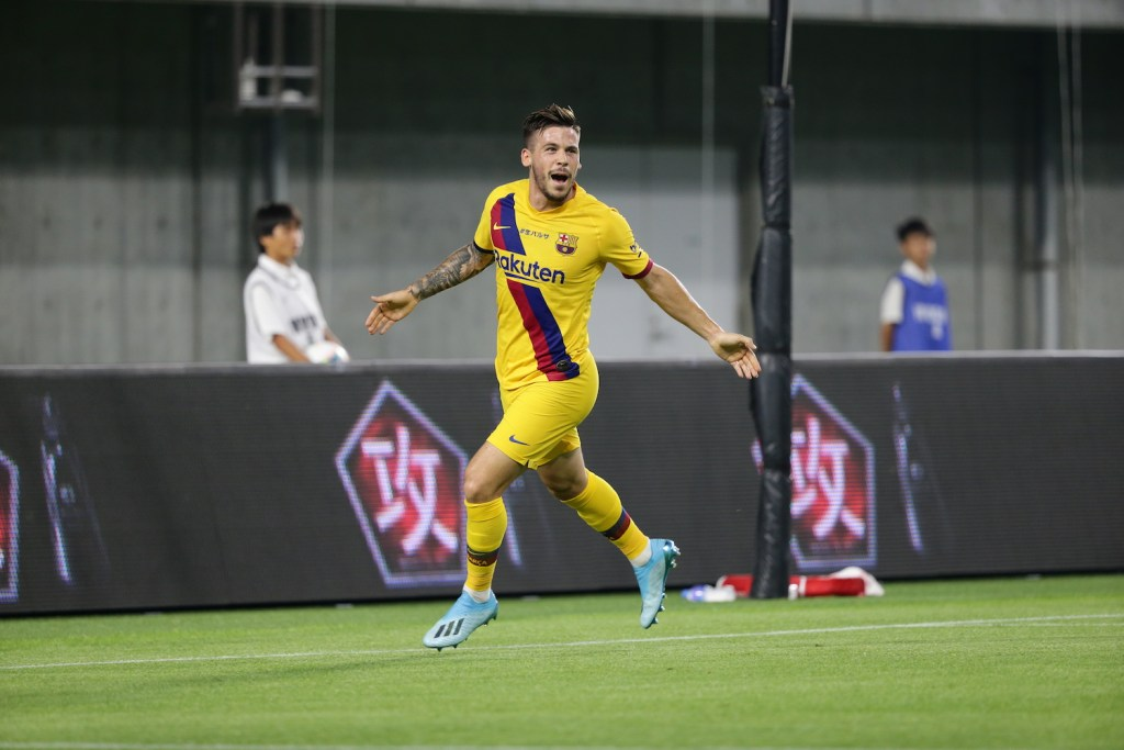 Barca winger Carles Perez emerged as star of the match, netting two goals against Vissel Kobe.