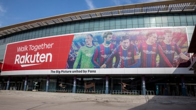 Rakuten and FC Barcelona have unveiled a larger-than-life mosaic made up of 46,000 crowdsourced fan photos arranged into the image of Barca stars.