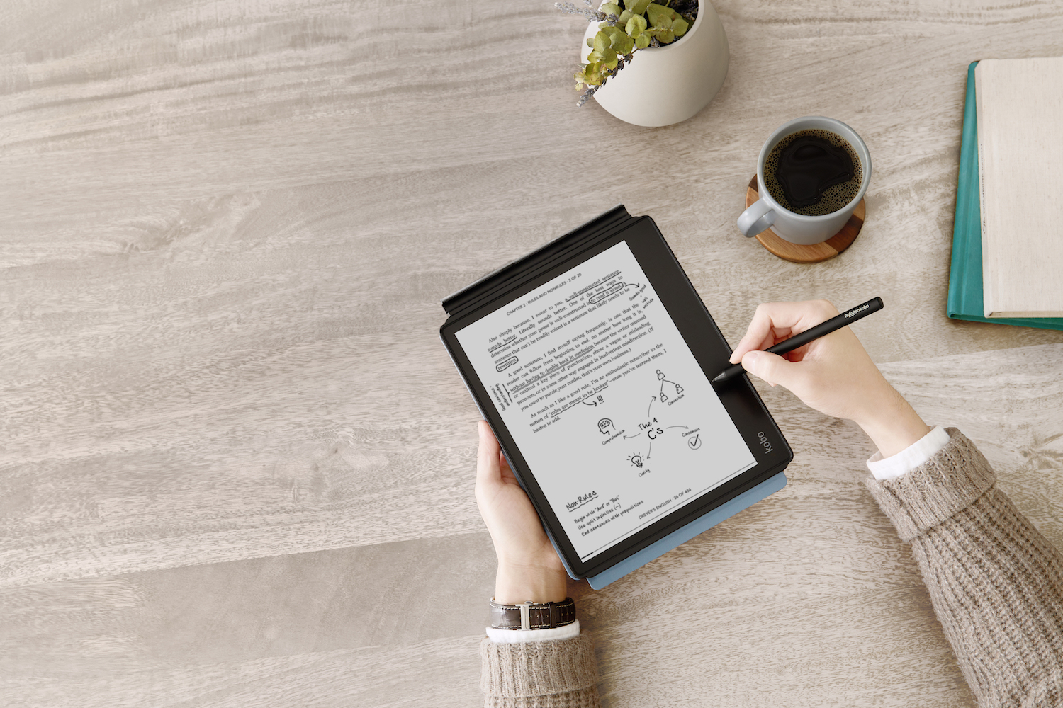 With Kobo Elipsa's beyond-the-page reading experience, readers can use its intuitive stylus to highlight and jot notes in eBooks, PDFs and more.