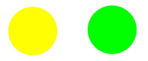 黄色と黄緑