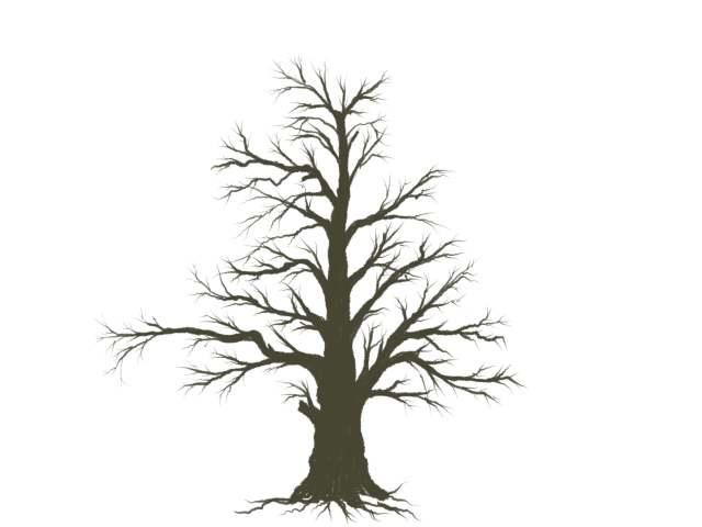【木の描き方】下描き不要。バランスの良い木がサクッと描けてしまう枝ぶりの法則