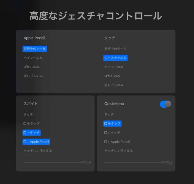 【Procreate】高度なジェスチャコントロールの設定方法とおすすめの設定。