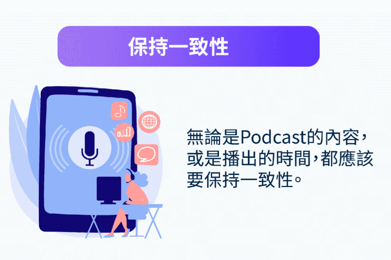 Podcast行銷:保持一致性