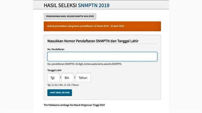 Pengumuman SNMPTN 2019,