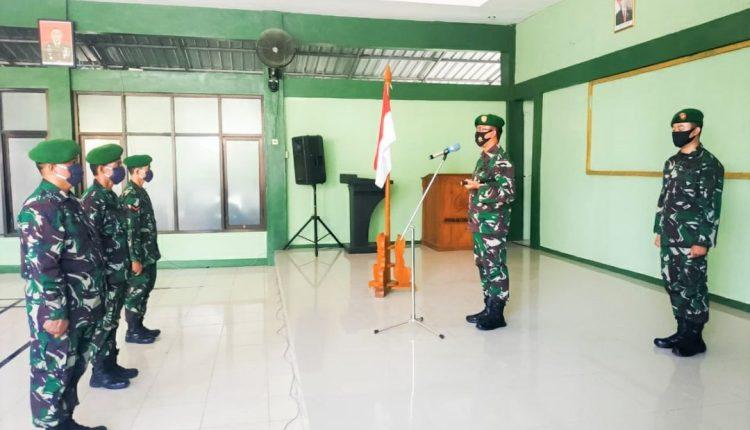 56 Personel Kodim 0813 Bojonegoro Naik Pangkat,