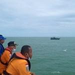 Tim SAR Gabungan saat proses pencarian hari ketiga terhadap KM Gemilang 717 GT 02 asal Barus. Foto: Istimewa