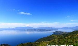 view landscape Danau Toba dari Huta Ginjang, Tapanuli Utara. Foto: Rakyatsumut.com/ Damai Mendrofa