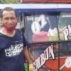 Berlin Marihot Silaban, pengendara becak di Kota Sibolga yang terapkan protokol kesehatan. Rakyatsumut.com/ Mirwan Tanjung