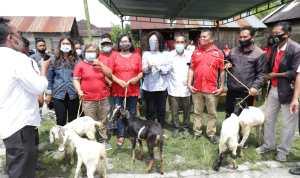 Ketua Tim Penggerak PKK Tapanuli Utara, Satika boru Simamora, bertempat di Lumban Tonga-tonga Desa Partali Julu Kecamatan Tarutung. Foto: istimewa