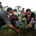 Rangkaian penanaman pohon memperingati Hari Lingkungan Hidup Sedunia yang digelar PFI Medan bekerjasama dengan Coca cola. Foto: Dok PFI Medan