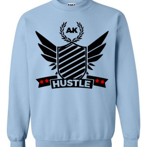 rakz light blue hustle crew neck