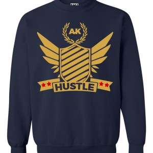 rakz navy blue hustle crew neck