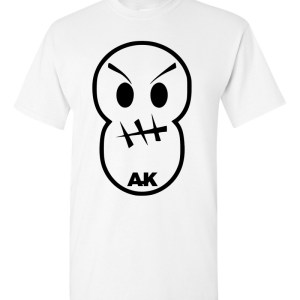 Rakz White Stiched Smiley Front