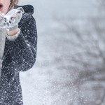 Cold Winter Girl Snow Model Fashion Woman