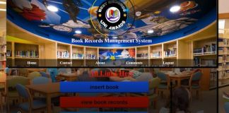 book record php project