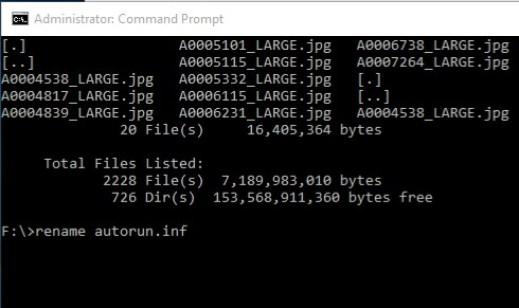 type your cmd to delete virus