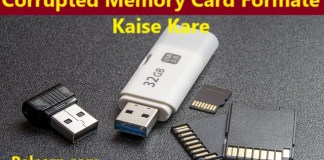 Corrupted Memory Card ko Formate Kaise Kare