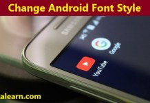 Change android fonts style