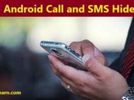 android phone me call and sms hide