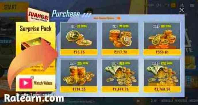 PUBG Mobile Lite In game BC Purchase