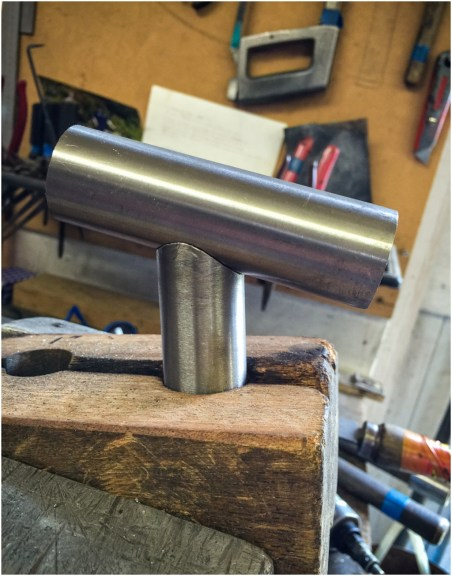 Dave Yates Frame Building Course Day 1 Sub Assembly Cutting and Filing Top Tube Angle