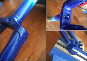 Dave Yates Frame Building Course Painted Frame Fork Details