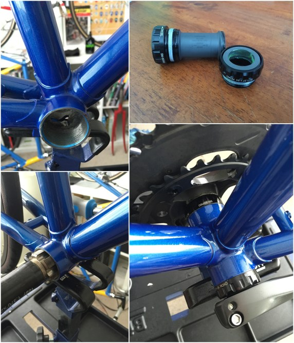 Dave Yates Frame Building Course Complete Bike Hollowtech Bottom Bracket