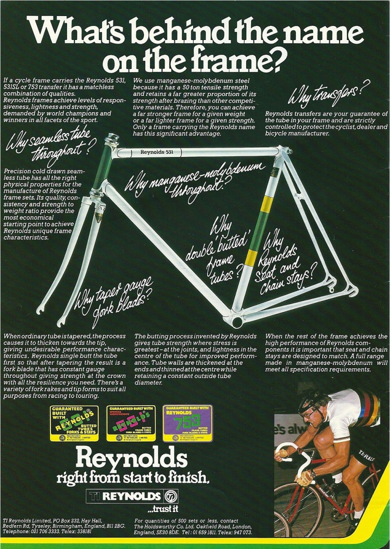 Raleigh Catalogue 1982 Featuring JR178T Jan Raas Track Frame Page 9