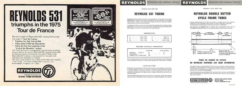 Reynolds 531 TDF 1975 TI-Raleigh SBDU Ilkeston