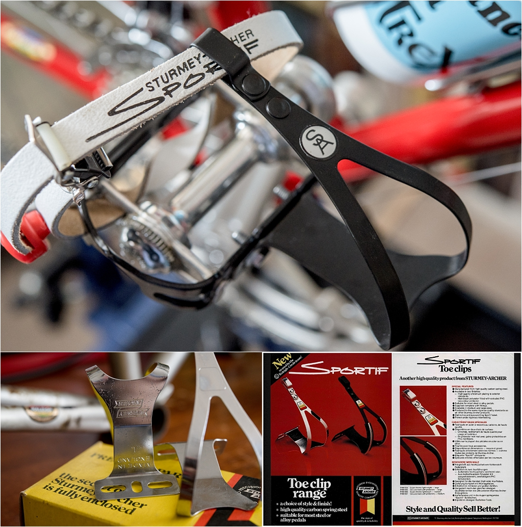 TI-Raleigh 1980 Team Bike Specification SBDU SB4059 Campagnolo Pedals and Sturmey Archer Toe Clips