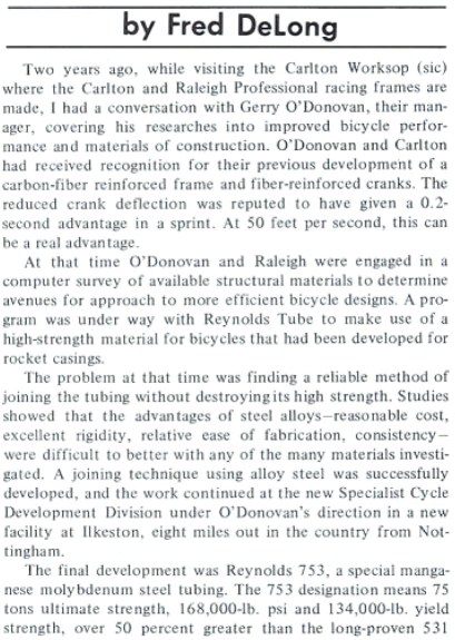 Bicycling by Fred DeLong March 1976 Discussion With GoD
