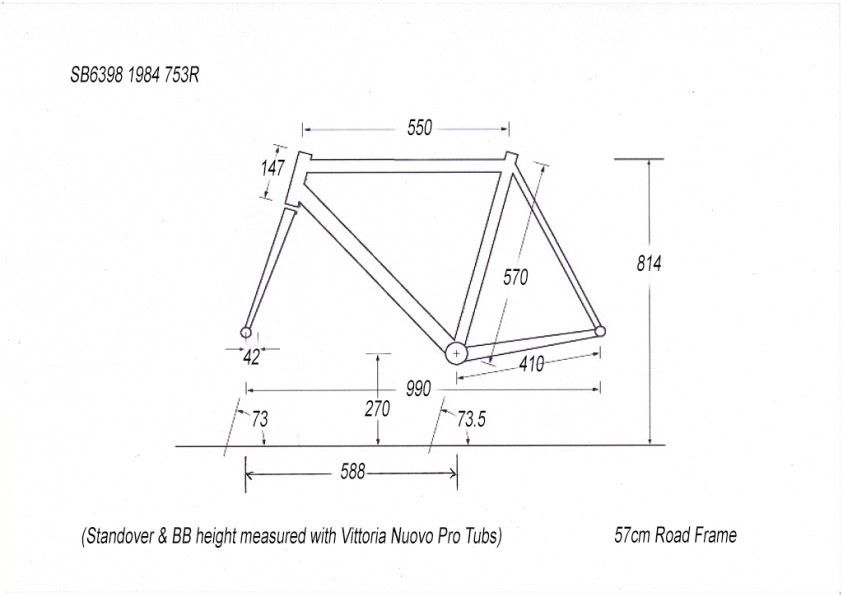 SB6398 Reynolds 753R SBDU Ilkeston Campagnolo Super Record 50th Anniversary Group Geometry
