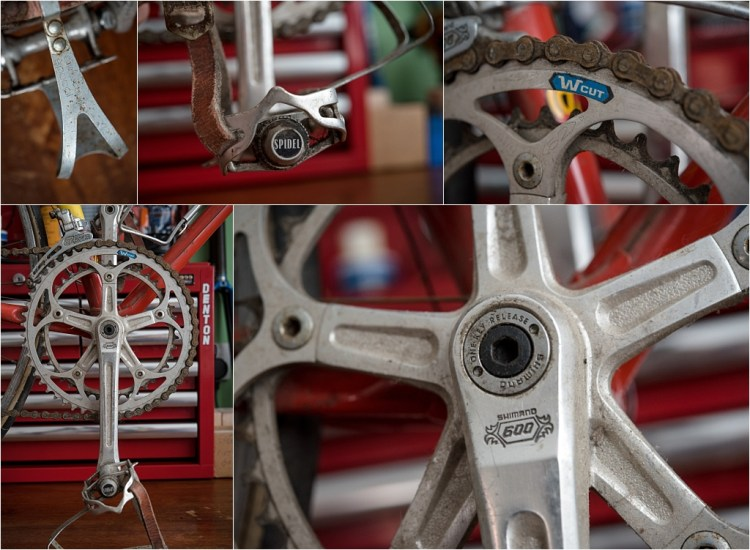 SB1861 1977 SBDU Ilkeston Reynolds 531 TI-Raleigh Team Pro Chainset and Pedals