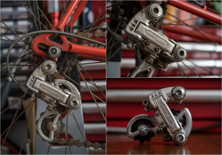 SB1861 1977 SBDU Ilkeston Reynolds 531 TI-Raleigh Team Pro Shimano 600EX Rear Derailleur