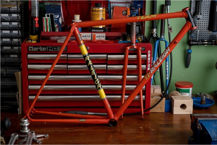SB3505 1980 SBDU Ilkeston TI-Raleigh Team Pro Reynolds 753 Frame and Fork