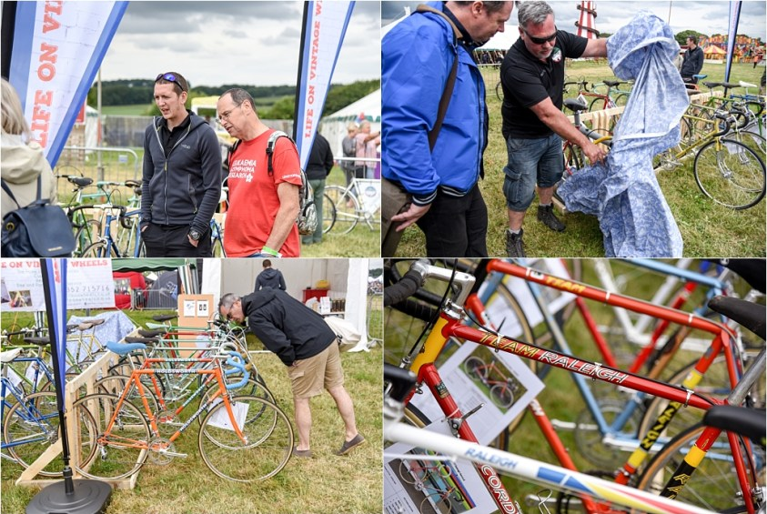 Eroica Britannia 2018 My TI-Raleigh SBDU Chilling and Looking at Bikes