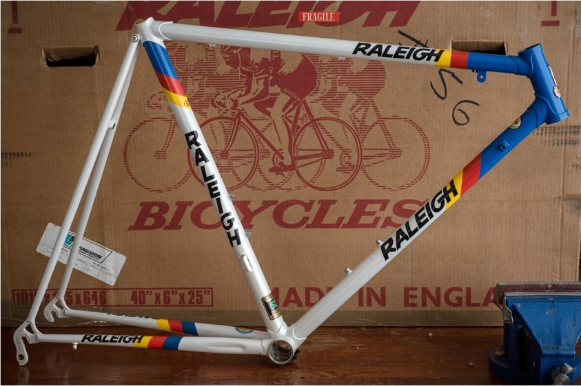 SB8790 1987 SBDU Nottingham 531c Lo Pro Road Frameset and Box