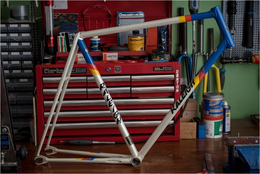 GH6 1 75 1975 TI Track Frame Painted in 1984 Team Colours