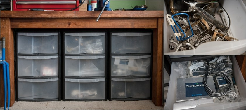 My TI-Raleigh SBDU Workshop Workbench Parts Storage