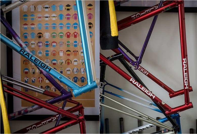 My TI-Raleigh SBDU Collection Waiting in the Workshop Hanging Around