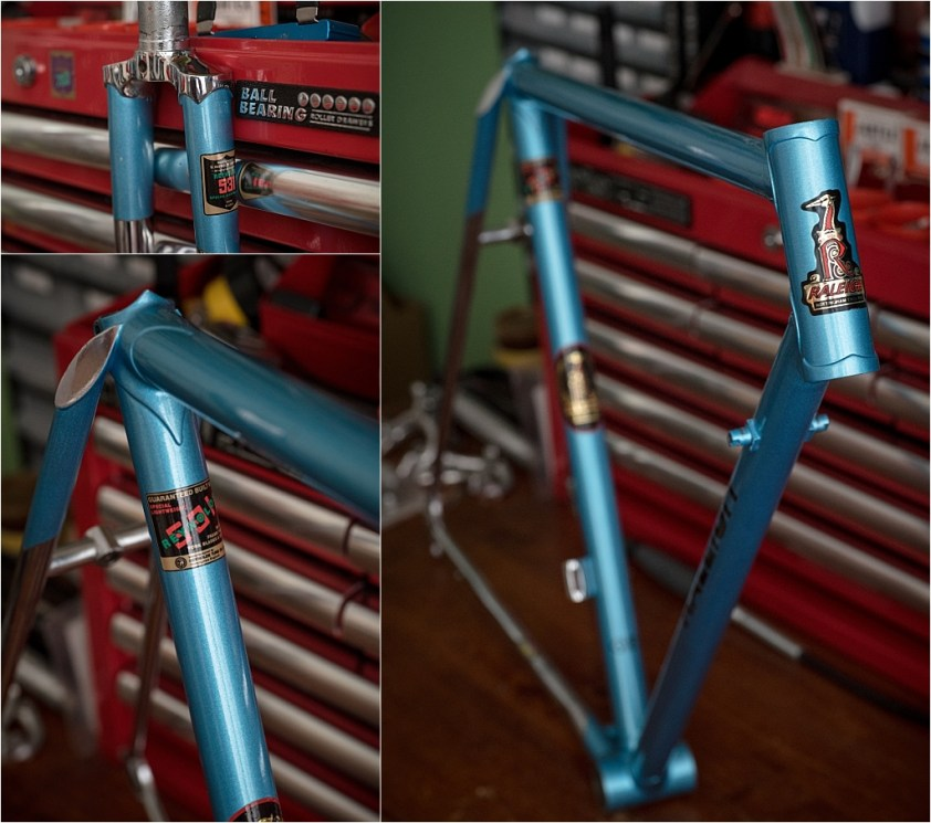 My TI-Raleigh SBDU Collection Waiting in the Workshop SB4933 SBDU Chrome - Repainted