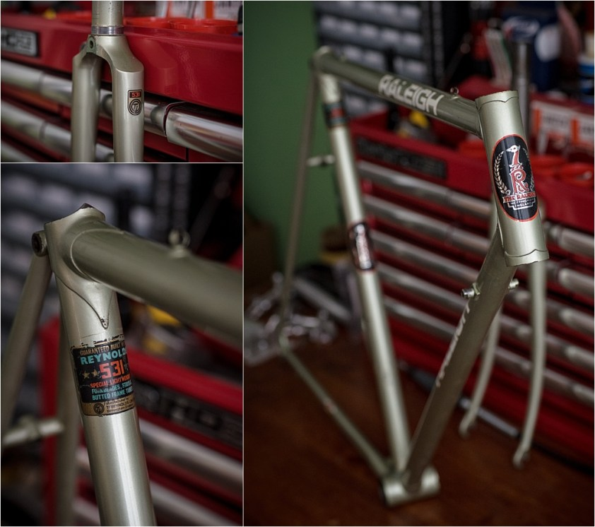 My TI-Raleigh SBDU Collection Waiting in the Workshop SB5464 Original Paint