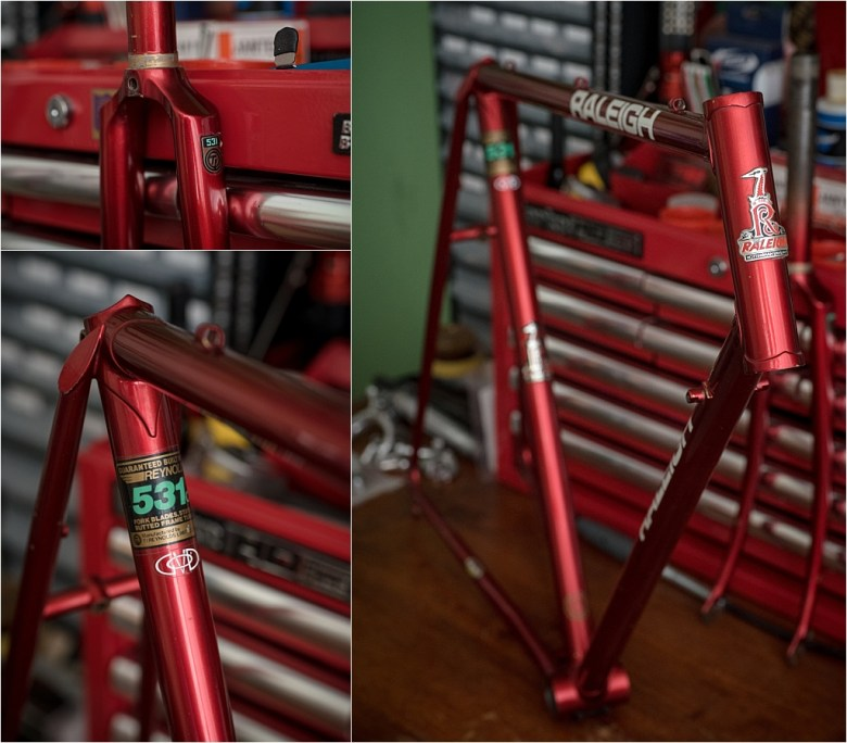 My TI-Raleigh SBDU Collection Waiting in the Workshop SB7660 Original Paint