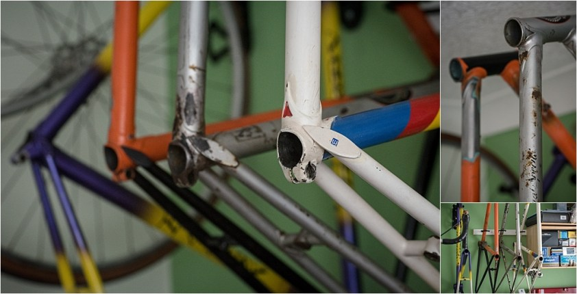My TI-Raleigh SBDU Collection Waiting in the Workshop