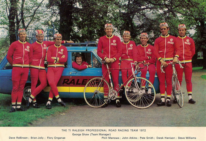 G4582 1972 Dave Rollinson TI Raleigh Team Bike MK IV Raleigh Professional Team Line Up