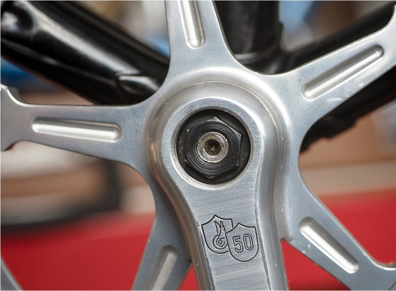 50th Anniversary Super Record Bits and Pieces - 2nd Gen TI Bottom Bracket Fastening