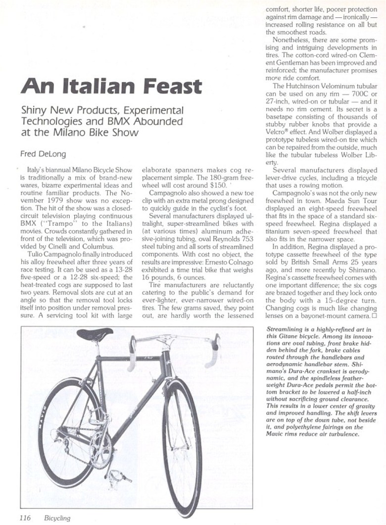 1979 Milan Cycle Show Raleigh Dynaflite